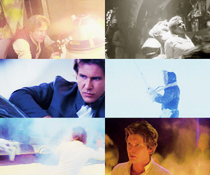 classic, Collage, and han solo image
