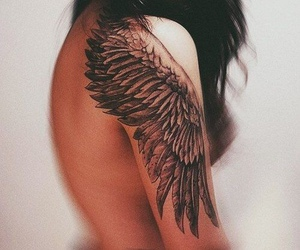 beautiful, feathers, and girl image