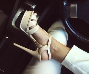 beige, style, and high heels image