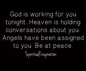 god, angels, and faith image