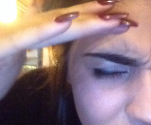 eyebrows, nails, and reaction pictures image