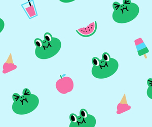 wallpaper, background, and frog image