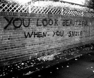 smile, beautiful, and you image