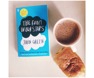 lazy sunday, the fault in our stars, and hot chocolate image