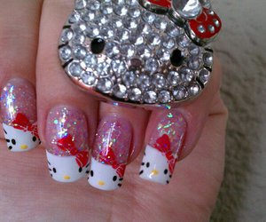 hello kitty, nails, and pretty image