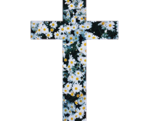 cross, indie, and flowers image