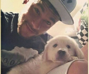 cute and neymar with his dog !!! image