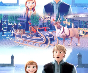 anna, couple, and disney image