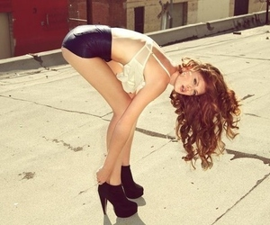 high heels, long hair, and girl image