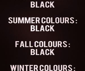 black, summer, and winter image