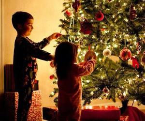 decoration, kids, and tree image