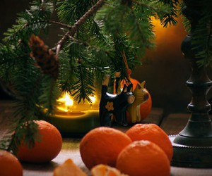 christmas, tangerines, and happy image