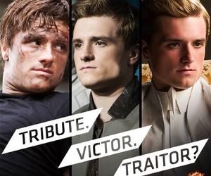 peeta, mockingjay, and traitor image