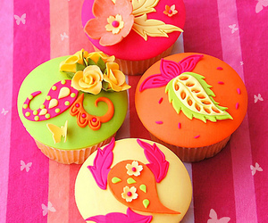 cupcake, yummy, and colorful image