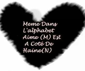 alphabet, amour, and haine image
