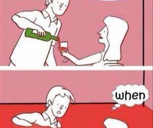 wine, funny, and drink image