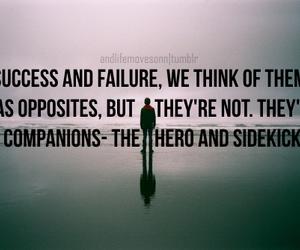 failure, inspiring, and success image