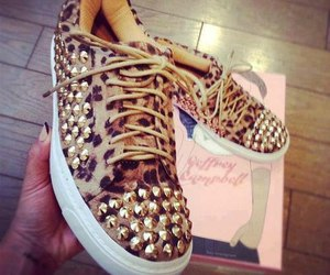 shoes, leopard, and sneakers image