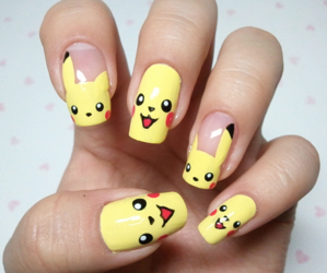 nails, pikachu, and pokemon image