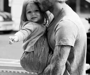 David Beckham, baby, and dad image