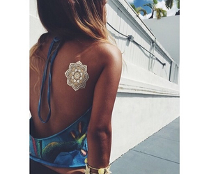 summer, tattoo, and white image