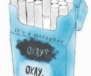 blue, the fault in our stars, and okay image