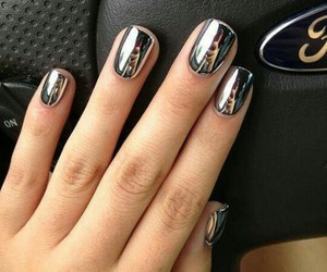 nails, silver, and luxus image
