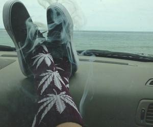 smoke, weed, and socks image
