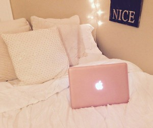 pink, bedroom, and fashion image