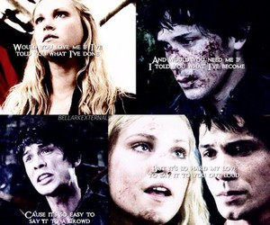 the 100, bellamy blake, and clarke griffin image