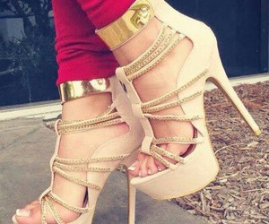 chic, gold, and red image