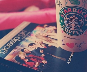 starbucks, gossip girl, and coffee image