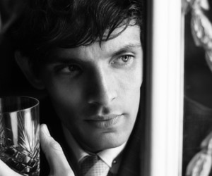 actor, black and white, and colin morgan image