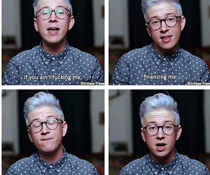 tyler oakley, youtube, and funny image