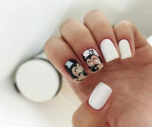 nails, cute, and white image