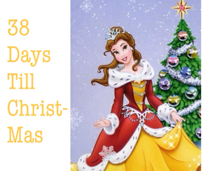 belle, christmas, and disney image