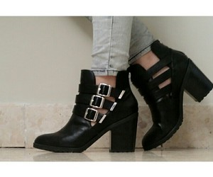 black shoes, boots, and cool image