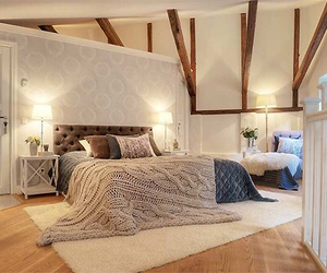 bed, cosy, and house image