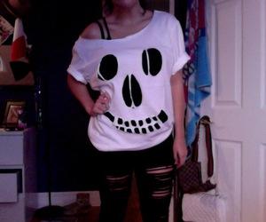 cool, girl, and skull image