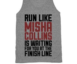 run, supernatural, and shirt image