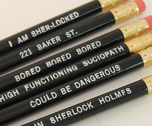 pencils, sherlock, and sherlocked image
