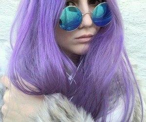 purple, girl, and hair image