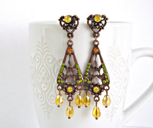 crystals, earrings, and handmade image