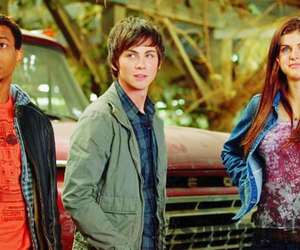 brandon t jackson, logan lerman, and percy jackson image