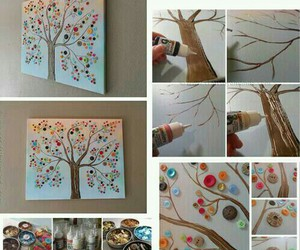 diy, picture, and tree image