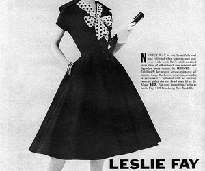 1950's, black and white, and fashion image