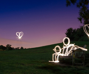 light, love, and couple image