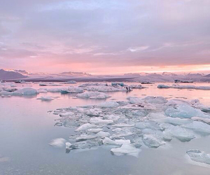 ice, sky, and nature image