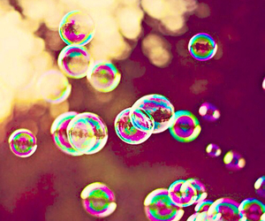 bubbles, summer, and nature image