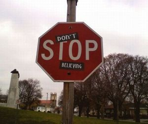 don't stop belive image